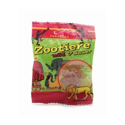 """Owocowe cukierki żelowe """"Zootiere"""", dzikie i kwaśne, małe"""
