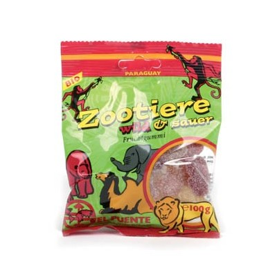 """Owocowe cukierki żelowe """"Zootiere"""", dzikie i kwaśne"""