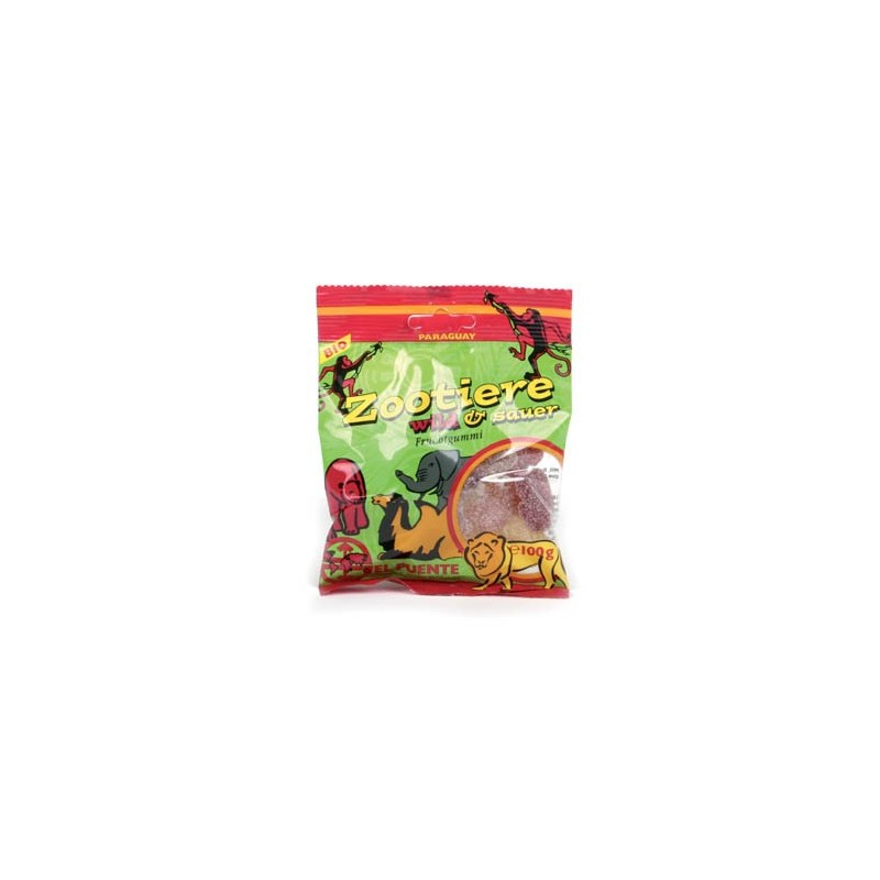 "Owocowe żelki ""Zootiere"" kwaśne 100 g"