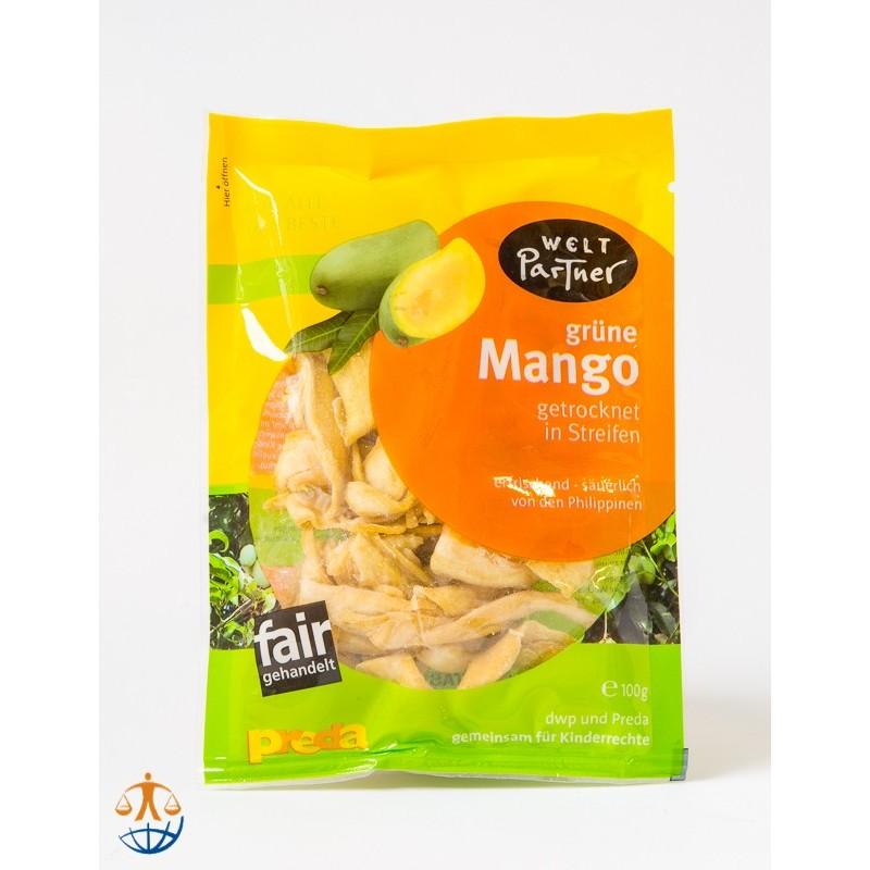 Mango zielone suszone, lekko osłodzone (100g)