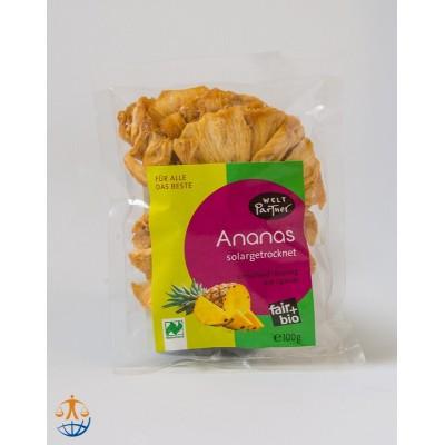 Ananas suszony na słońcu, bez cukru (dwp)