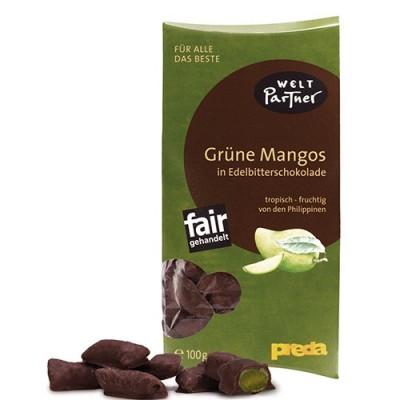 Zielone mango w gorzkiej czekoladzie