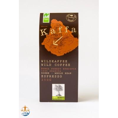 Kawa ziarnista, dziko rosnąca arabika z Etiopii, Kaffa Espresso (250g)