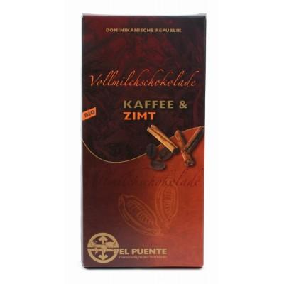Czekolada mleczna z kawą i cynamonem