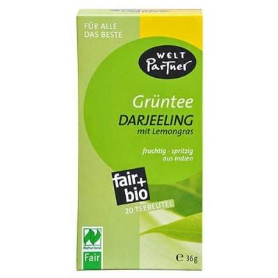 Herbata zielona Darjeeling z trawą cytrynową (20 saszetek)