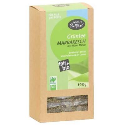 """Herbata zielona z Indii """"Marrakesh"""" z marokańską miętą"""