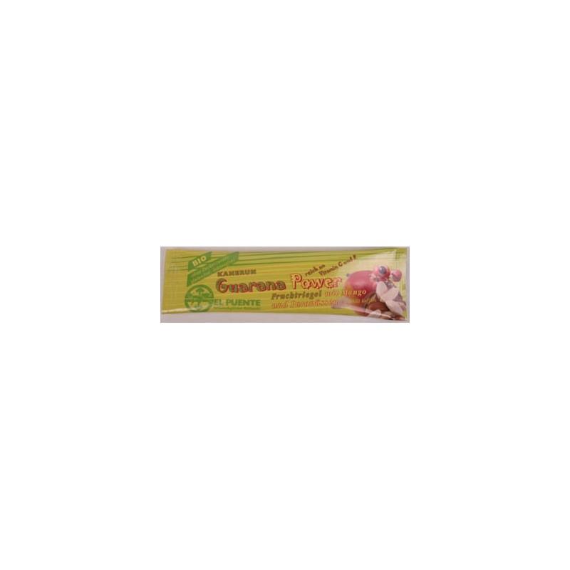 """Baton owocowy """"Power guarana"""" z mango i orzechami brazylijskimi"""