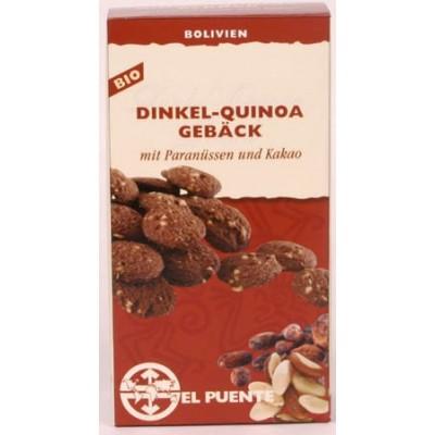 Ciasteczka z orkiszu i komosy ryż. z orzechami brazyl. i kakao