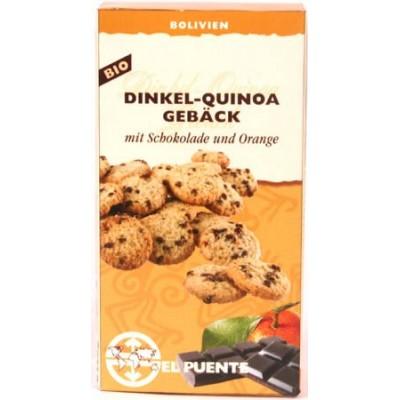 Ciasteczka z orkiszu i komosy ryżowej z czekoladą i pomarańczą