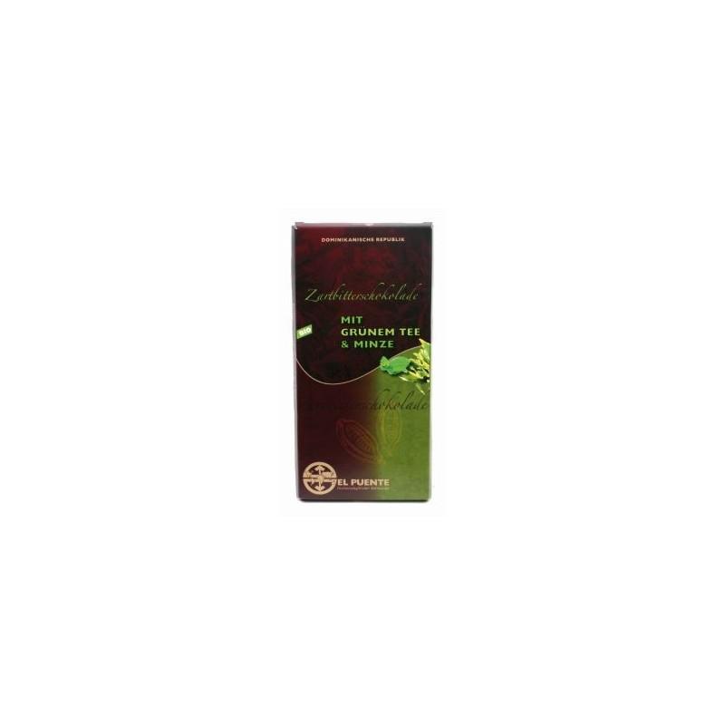 Czekolada półgorzka z herbatą zieloną i miętą