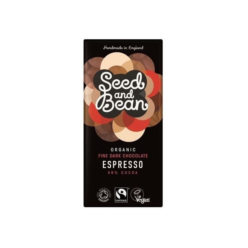 Czekolada gorzka z ziarnami kawy