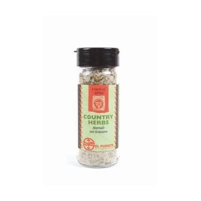 """""""Country herbs"""" – sól morska, ziołowa w szklanym pojemniku"""