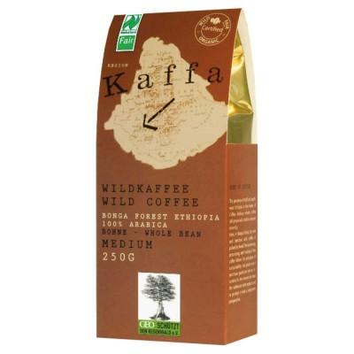 Kawa ziarnista, dziko rosnąca arabika z Etiopii, Kaffa medium (250g)