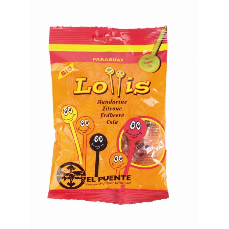 Lizaki: mandarynkowy, cytrynowy, truskawkowy, cola (8 lizaków po 7g)
