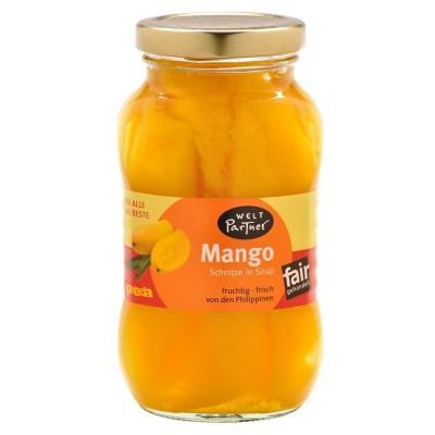 Płaty z mango w syropie