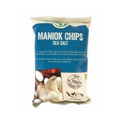 Chipsy z manioku z solą morską, Bio