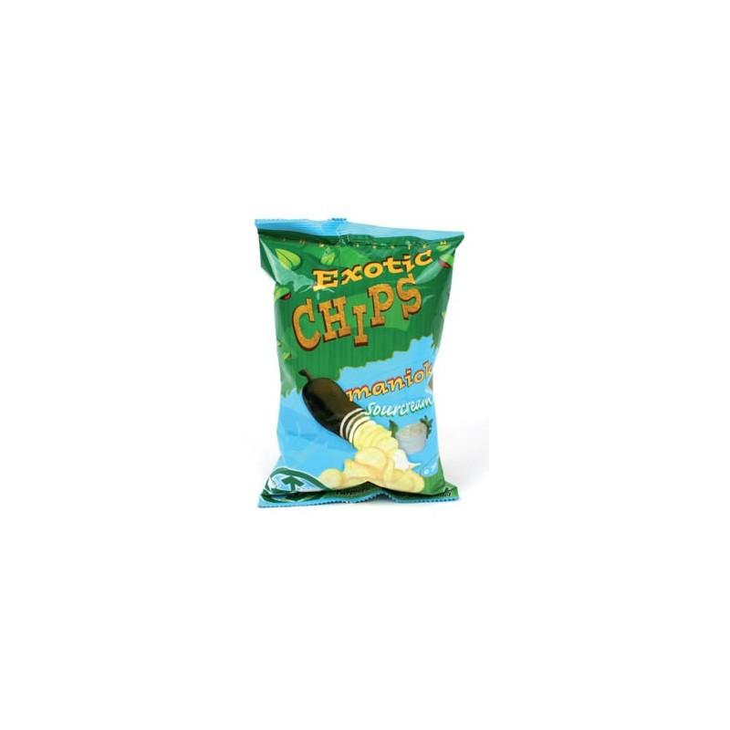 Chipsy z manioku o smaku śmietankowym 30 g