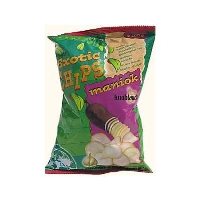 Chipsy z manioku o smaku czosnku 100 g